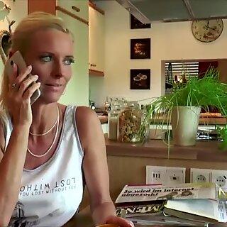 Wild blonde mom fucking