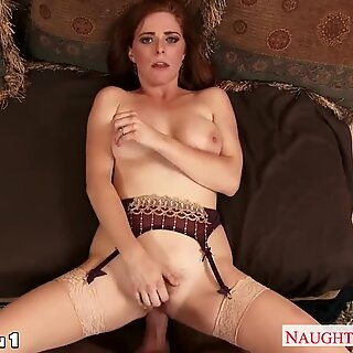 big-chested red-haired housewife Penny Pax take fuckpole in POV