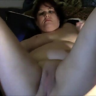 Geeky Chubby girl makes a mess with njoy toy