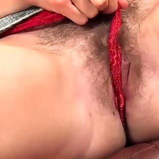 Jilian Jacobs moans while masturbating passionately