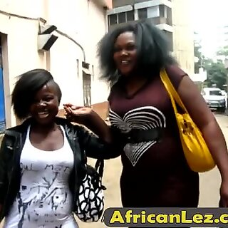 Fat lesbian from Africa gets her juicy cunt fingered and licked