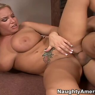 Fat and flexible whore Rachel Love rides cock on the floor