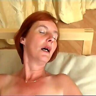 Mature pantyhose hairy pussy solo